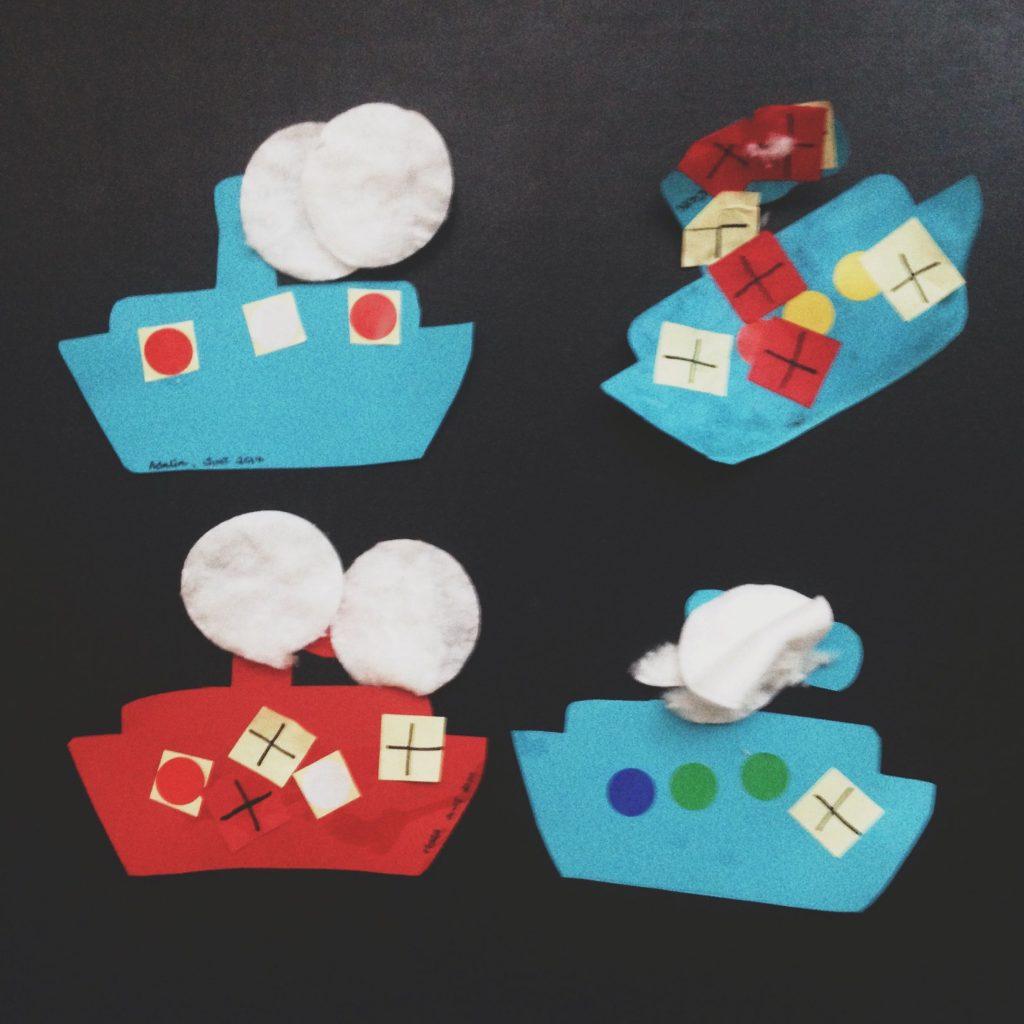 Sinterklaas - knutselen met dreumes, een stoomboot maken