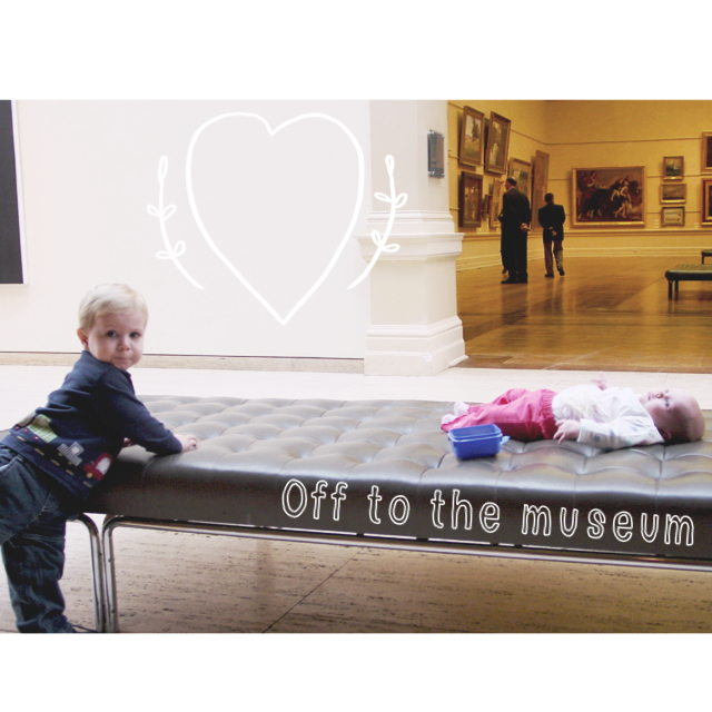 visiting museum with young children