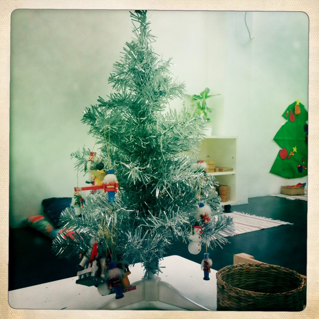 A Montessori Christmas tree